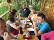 Monatsversammlung Juni in der Diensthütte